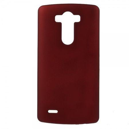 LG G3 Gummiertes Plastik Case - rot