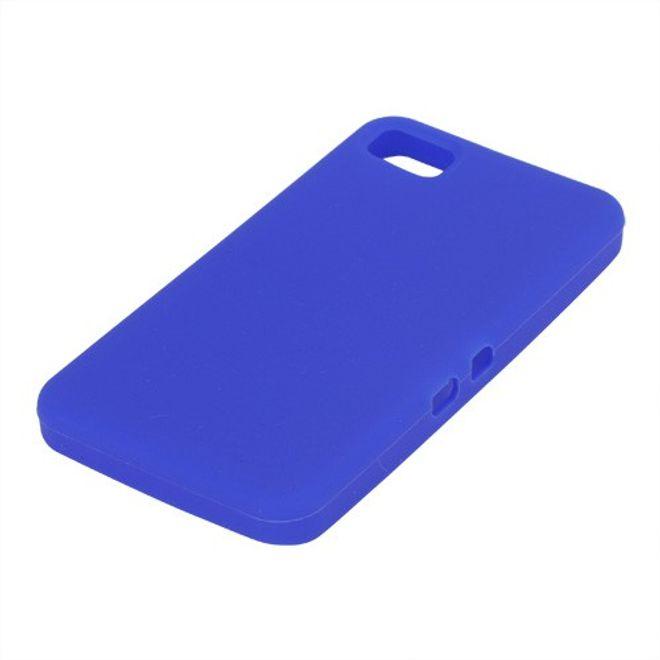 MU Classic BlackBerry Z10 Silikon Case - dunkelblau