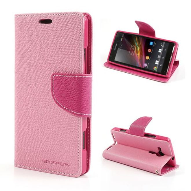 Goospery Goospery - Sony Xperia SP Hülle - Handy Bookcover - Fancy Diary Series - rosa/pink
