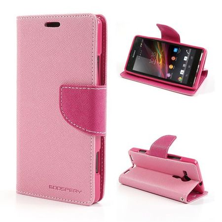 Goospery - Sony Xperia SP Hülle - Handy Bookcover - Fancy Diary Series - rosa/pink