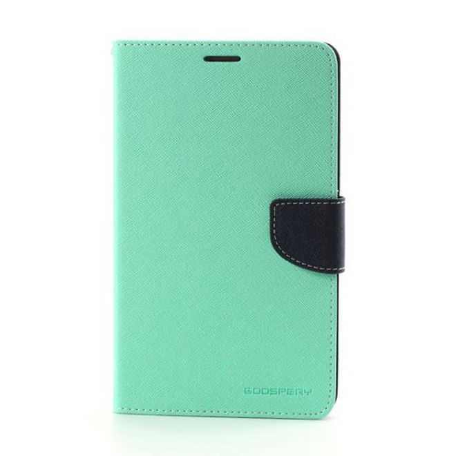 Goospery Mercury Goospery - Samsung Galaxy Tab 3 7.0 Hülle - Tablet Bookcover - Fancy Diary Series - mint/navy