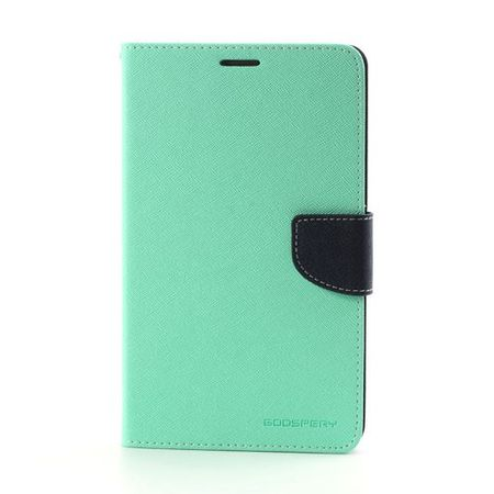 Goospery - Samsung Galaxy Tab 3 7.0 Hülle - Tablet Bookcover - Fancy Diary Series - mint/navy