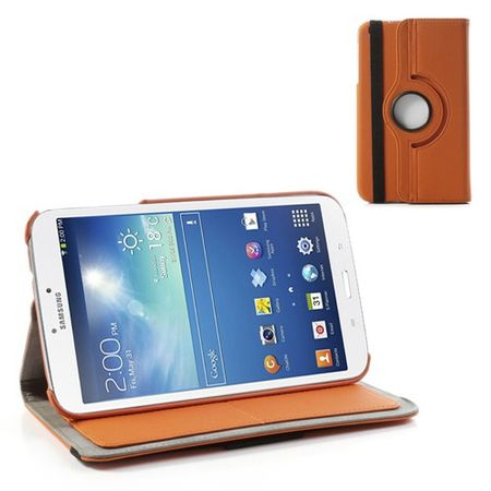 Samsung Galaxy Tab 3 8.0 Leder Case 360° rotierbar - orange