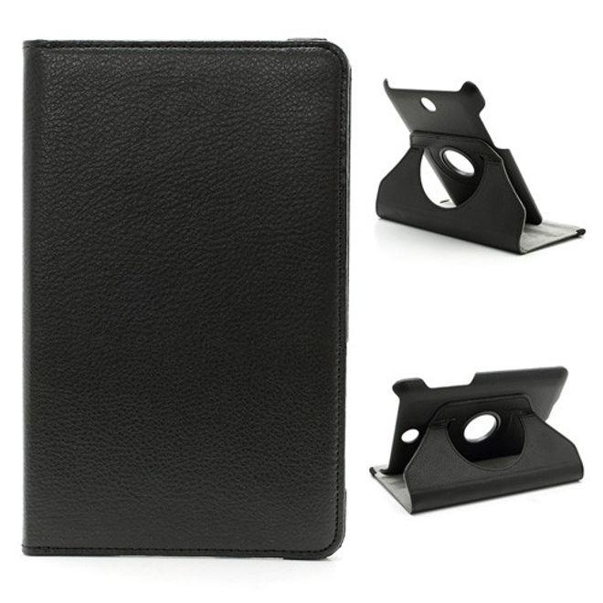 MU Classic Asus Fonepad (ME371) Leder Case mit Litchimuster und Standfunktion - schwarz