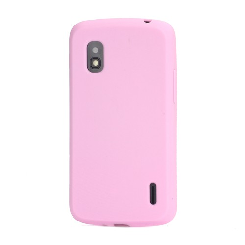 LG Google Nexus 4 Flexibles Silikon Case - pink