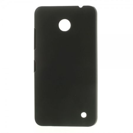 Nokia Lumia 630/630 Dual Gummiertes Hart Plastik Case - schwarz