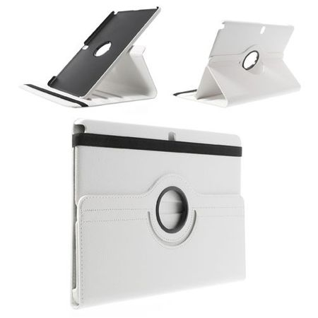 Samsung Galaxy Note Pro/Tab Pro 12.2 (P900/T900) Leder Case mit Litchimuster - weiss