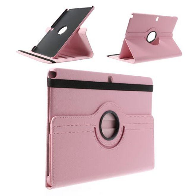 MU Classic Samsung Galaxy Note Pro/Tab Pro 12.2 (P900/T900) Leder Case mit Litchimuster - pink