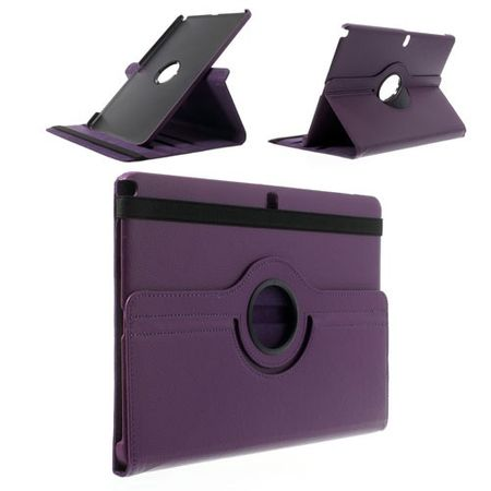 Samsung Galaxy Note Pro/Tab Pro 12.2 (P900/T900) Leder Case mit Litchimuster - purpur