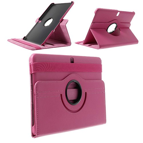 Samsung Galaxy Tab Pro 10.1 (T520/T525) Leder Case mit Litchimuster - rosa