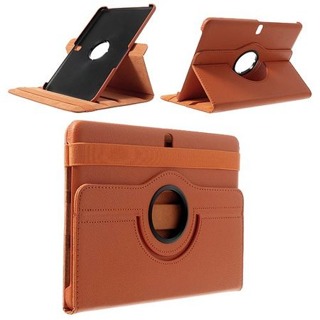 Samsung Galaxy Tab Pro 10.1 (T520/T525) Leder Case mit Litchimuster - orange