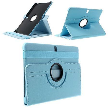 Samsung Galaxy Tab Pro 10.1 (T520/T525) Leder Case mit Litchimuster - hellblau