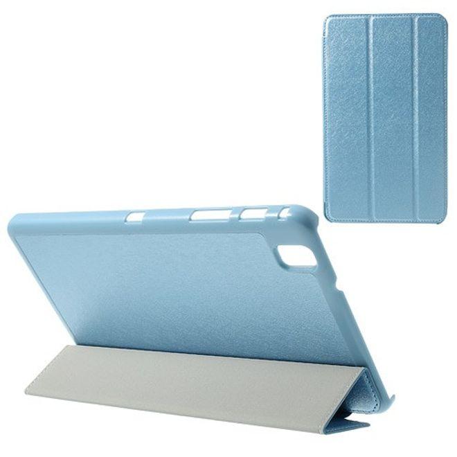 MU Classic Samsung Galaxy Tab Pro 8.4 Leder Case mit seidenartiger Oberfläche - hellblau
