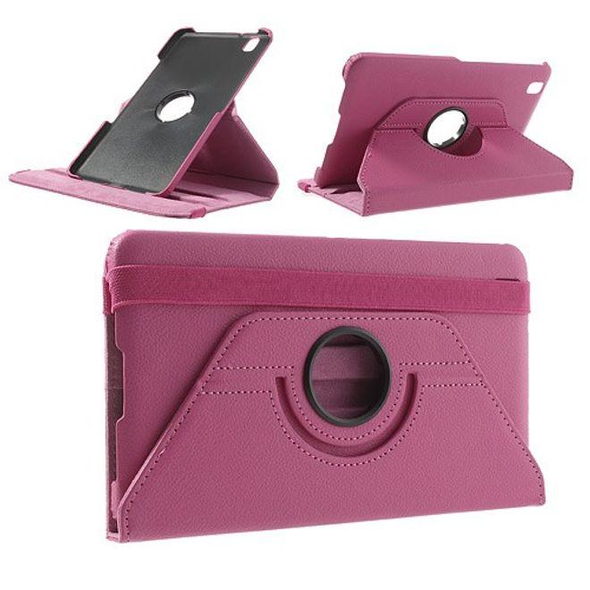 MU Classic Samsung Galaxy Tab Pro 8.4 Leder Case mit Litchimuster - rosa