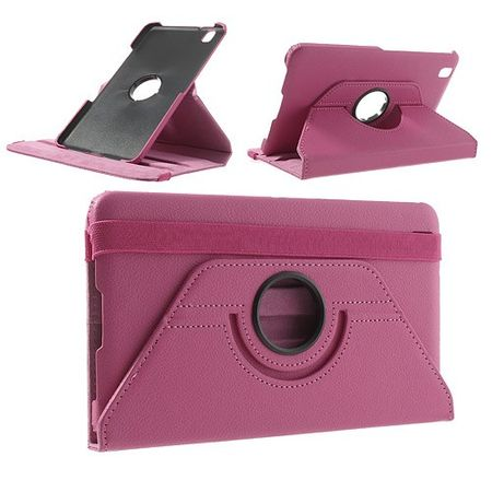 Samsung Galaxy Tab Pro 8.4 Leder Case mit Litchimuster - rosa