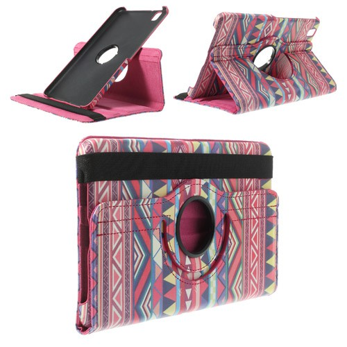 Samsung Galaxy Tab Pro 8.4 (T320/T321/T325) Leder Case mit Stammesmuster - rosa