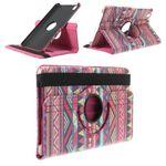 Samsung Galaxy Tab Pro 8.4 Leder Case mit Stammesmuster - rosa