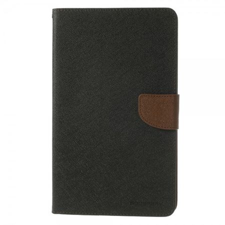 Goospery - Samsung Galaxy Tab Pro 8.4 Hülle - Tablet Bookcover - Fancy Diary Series - schwarz/braun