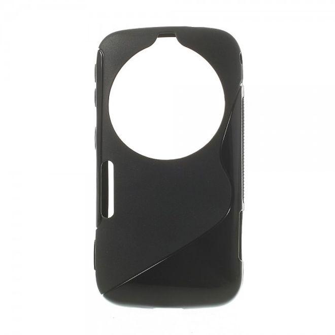 MU Classic Samsung Galaxy S5 Zoom Elastisches Plastik Case S-Curve - schwarz