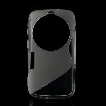 Samsung Galaxy S5 Zoom Elastisches Plastik Case S-Curve - transparent