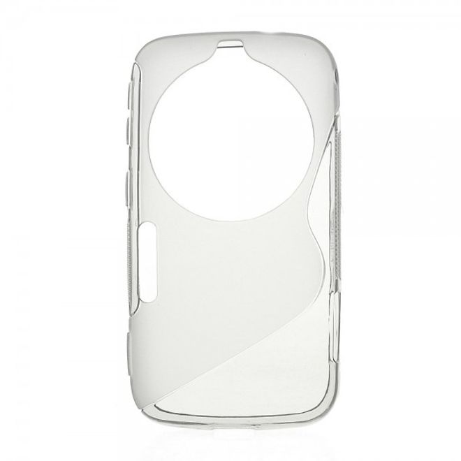 MU Classic Samsung Galaxy S5 Zoom Elastisches Plastik Case S-Curve - grau