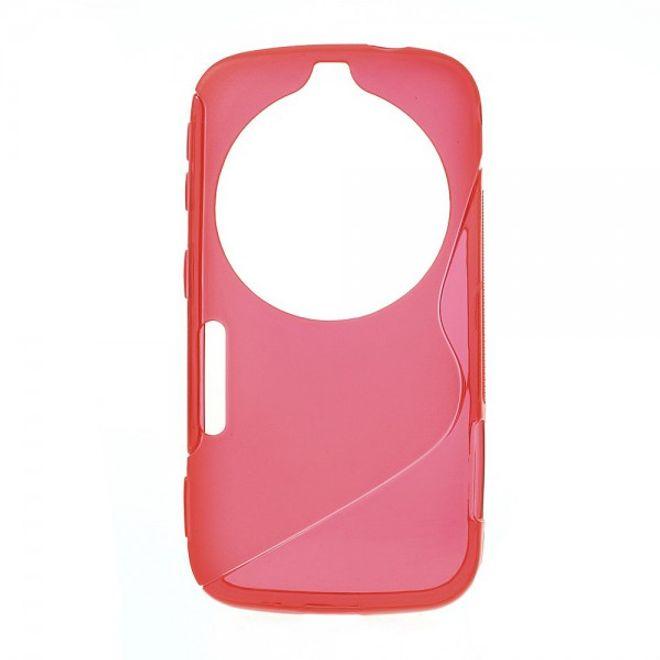 MU Classic Samsung Galaxy S5 Zoom Elastisches Plastik Case S-Curve - rot
