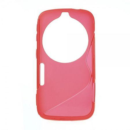 Samsung Galaxy S5 Zoom Elastisches Plastik Case S-Curve - rot