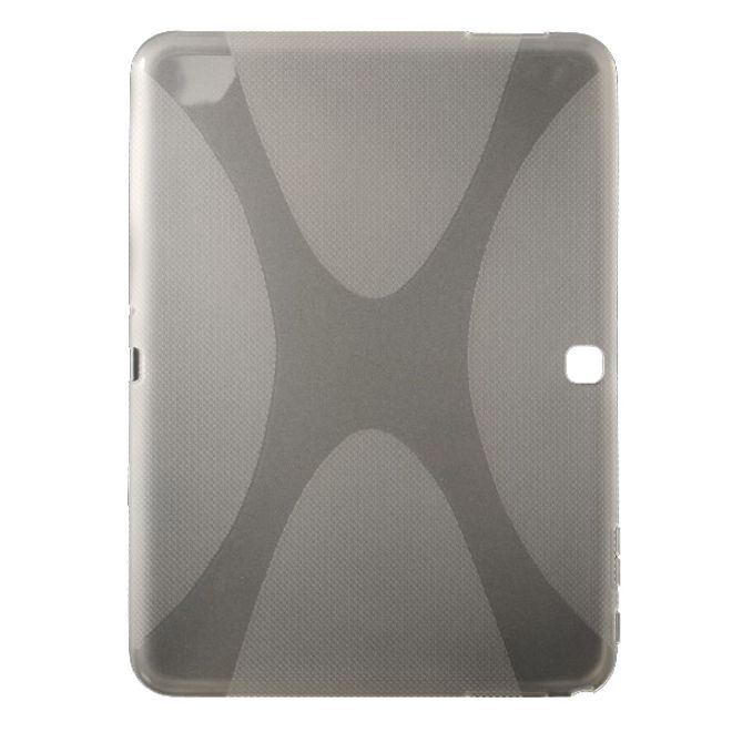 Samsung Galaxy Tab 4 10.1 (T530/T531/T535) Elastisches Plastik Case X-Shape - transparent