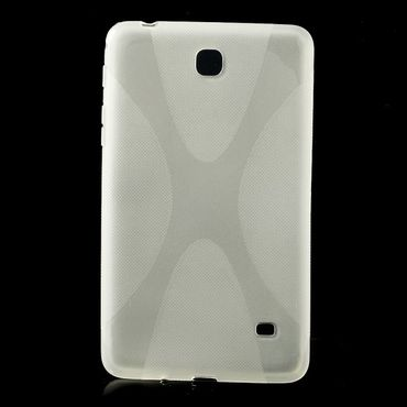 Samsung Galaxy Tab 4 7.0 (T230/T231/T235) Elastisches Plastik Case X-Shape - transparent