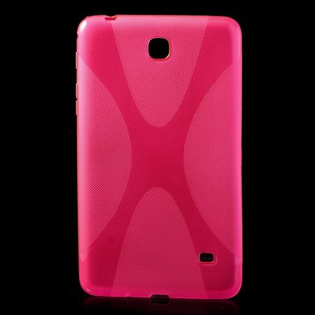 Samsung Galaxy Tab 4 7.0 (T230/T231/T235) Elastisches Plastik Case X-Shape - rosa