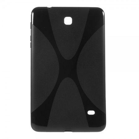 Samsung Galaxy Tab 4 8.0 Elastisches Plastik Case X-Shape - schwarz