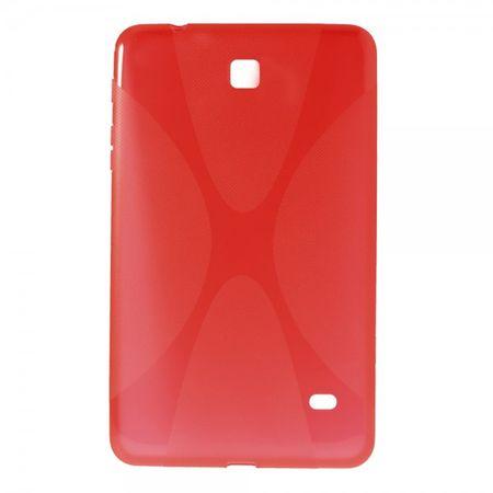 Samsung Galaxy Tab 4 8.0 Elastisches Plastik Case X-Shape - rot