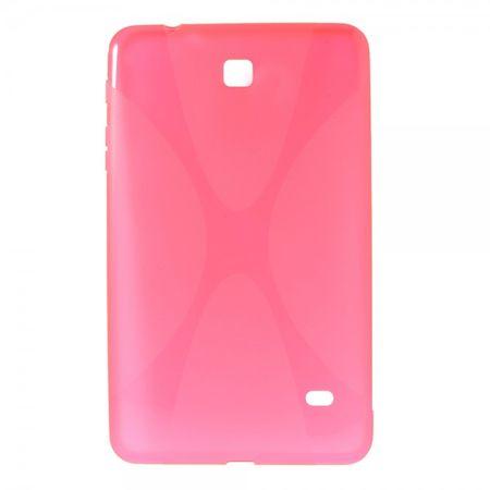 Samsung Galaxy Tab 4 8.0 (T330/T331/T335) Elastisches Plastik Case X-Shape - rosa
