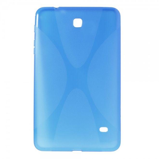 MU Classic Samsung Galaxy Tab 4 8.0 Elastisches Plastik Case X-Shape - blau