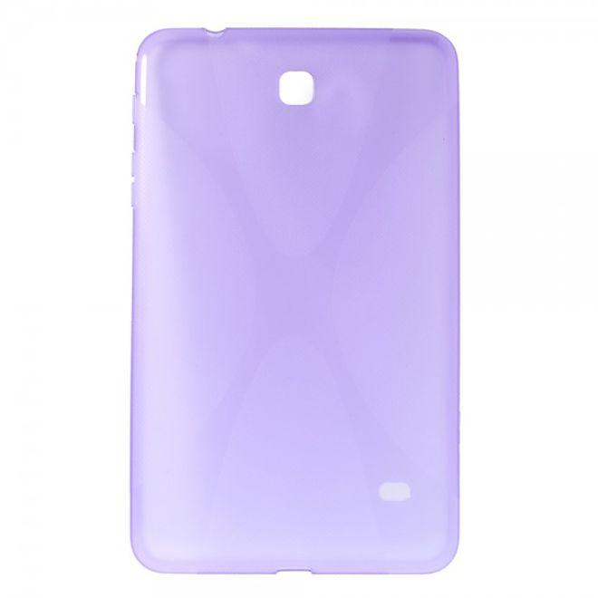 MU Classic Samsung Galaxy Tab 4 8.0 Elastisches Plastik Case X-Shape - purpur