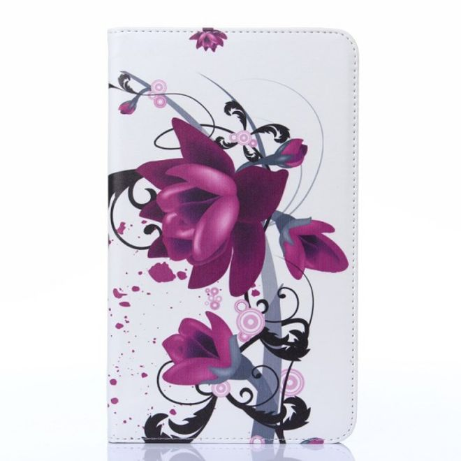 MU Style Samsung Galaxy Tab 4 8.0 Leder Case mit Lotus Blumen