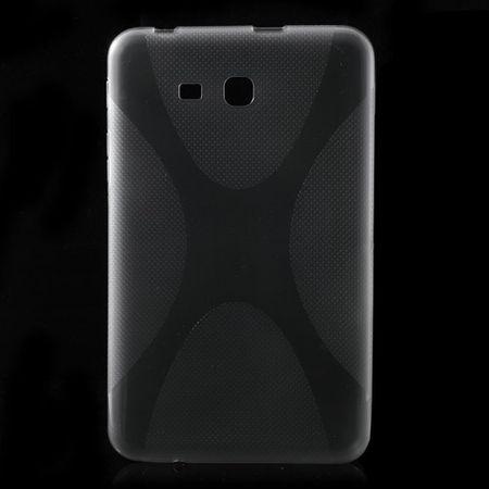 Samsung Galaxy Tab 3 7.0 Lite Elastisches Plastik Case X-Shape - grau