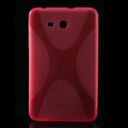 Samsung Galaxy Tab 3 7.0 Lite Elastisches Plastik Case X-Shape - rosa