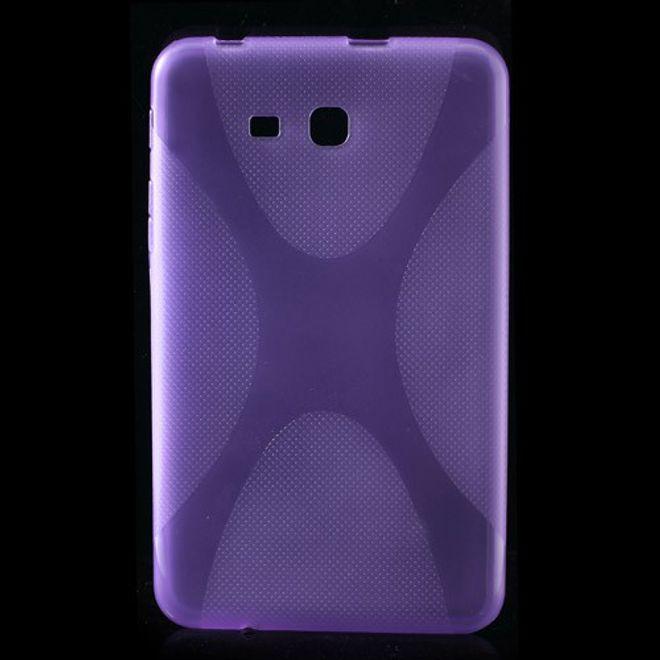 Samsung Galaxy Tab 3 7.0 Lite (T110) Elastisches Plastik Case X-Shape - purpur