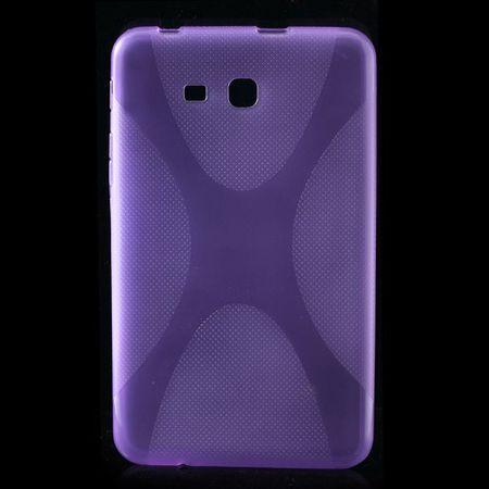 Samsung Galaxy Tab 3 7.0 Lite Elastisches Plastik Case X-Shape - purpur