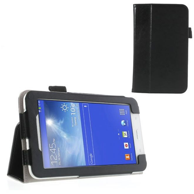 MU Classic Samsung Galaxy Tab 3 7.0 Lite Crazy Horse Leder Case mit Standfunktion - schwarz