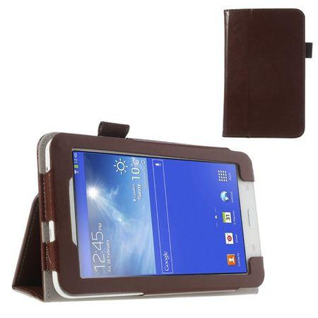 Samsung Galaxy Tab 3 7.0 Lite (T110) Crazy Horse Leder Case mit Standfunktion - braun
