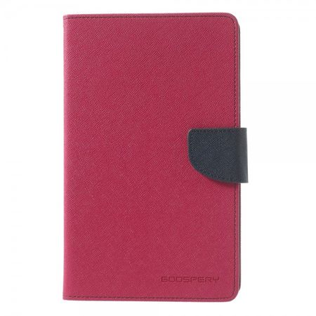 Goospery - Samsung Galaxy Tab 3 7.0 Lite Hülle - Tablet Bookcover - Fancy Diary Series - pink/navy
