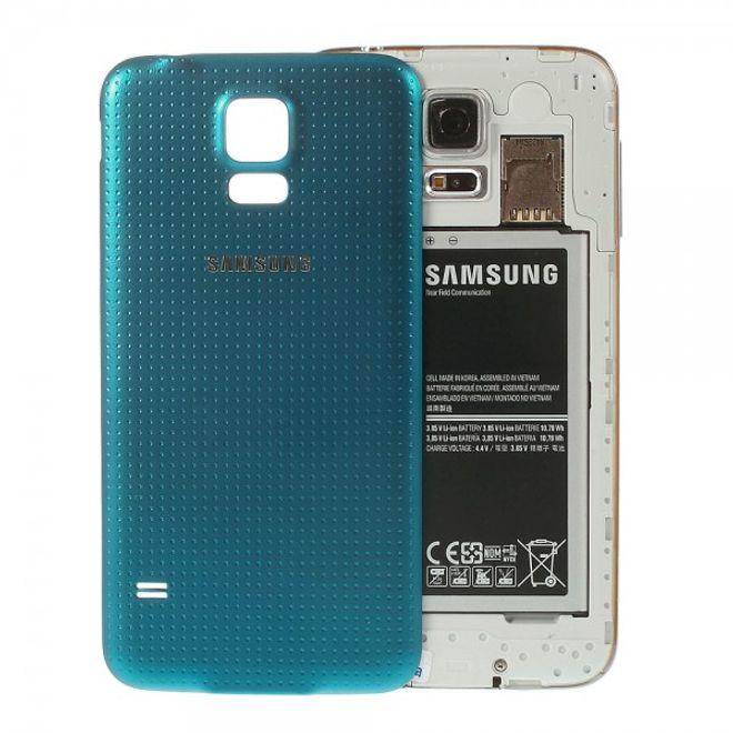MU Classic Samsung Galaxy S5 Wasserdichtes OEM Plastik Backcover - blau