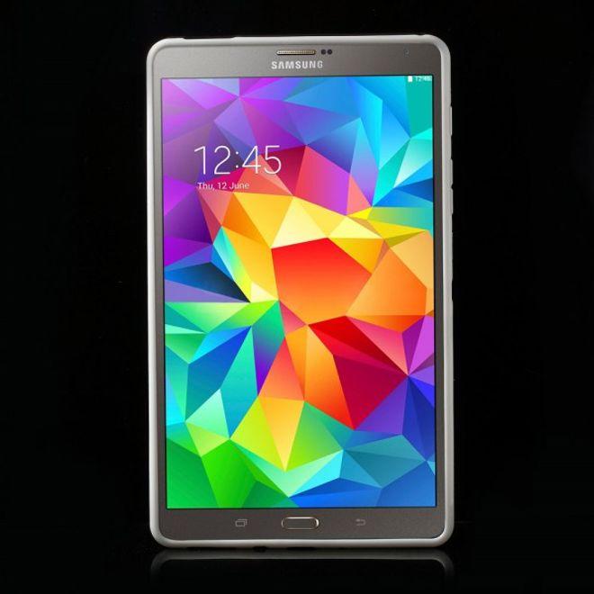 Samsung Galaxy Tab S 8.4 (T700/T701/T705) Elastisches Plastik Case X-Shape - weiss