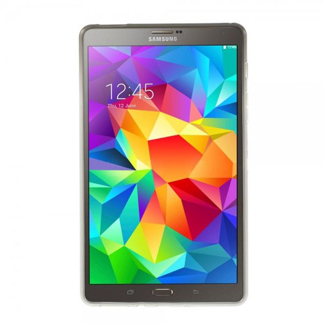 MU Classic Samsung Galaxy Tab S 8.4 (T700/T701/T705) Elastisches Plastik Case X-Shape - grau