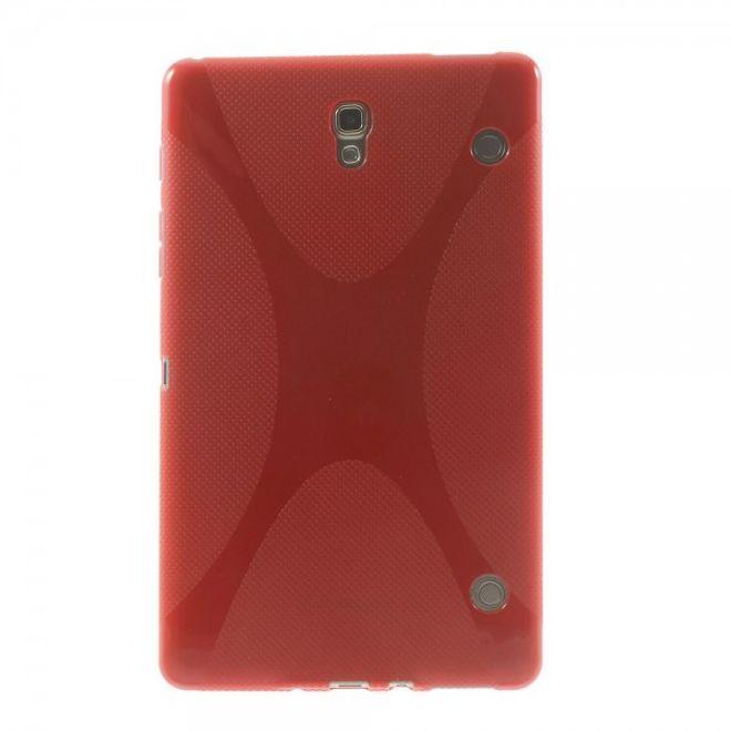 MU Classic Samsung Galaxy Tab S 8.4 (T700/T701/T705) Elastisches Plastik Case X-Shape - rot