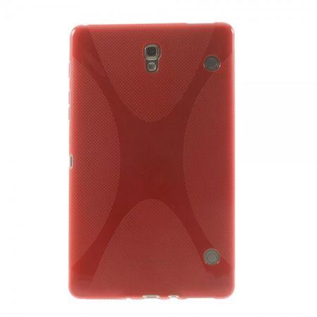 Samsung Galaxy Tab S 8.4 (T700/T701/T705) Elastisches Plastik Case X-Shape - rot