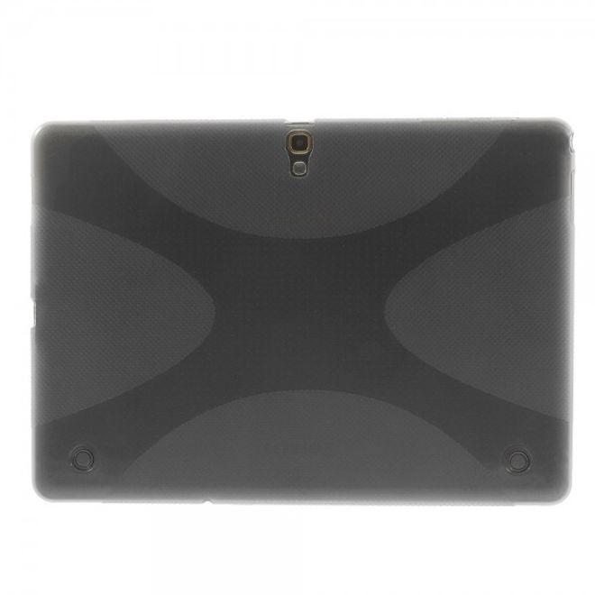 Samsung Galaxy Tab S 10.5 (T800/T801/T805) Elastisches Plastik Case X-Shape - grau
