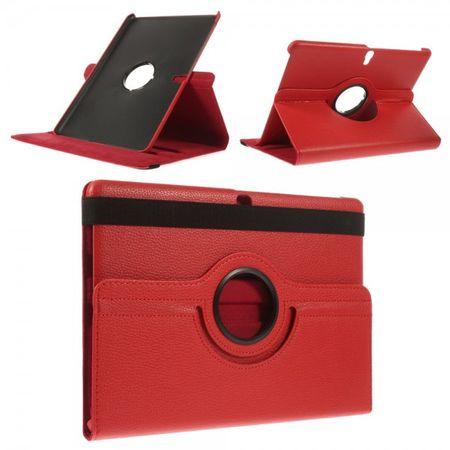 Samsung Galaxy Tab S 10.5 (T800/T801/T805) Leder Case 360° rotierbar mit Litchimuster - rot